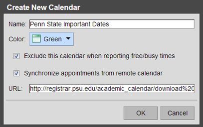 create new calendar screenshot