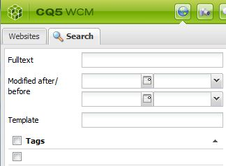 CMS website console screenshot