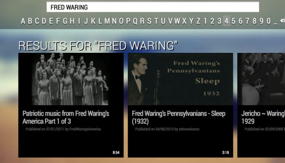 youtube fred waring search