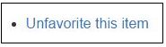 """partial screen capture of Libraries intranet site noting """"unfavorite this item"""" link"""