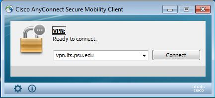 image of dialog for VPN client selection