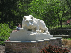 Penn State Mont Alto has its own Nittany Lion Shrine. It's 1/3 the size of University Park's Nittany Lion shrine.