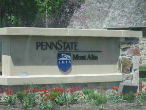 Mont Alto's welcome sign greets everyone as they enter the campus.