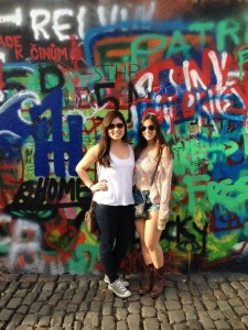 Lennon wall in Prague, Czech Republic