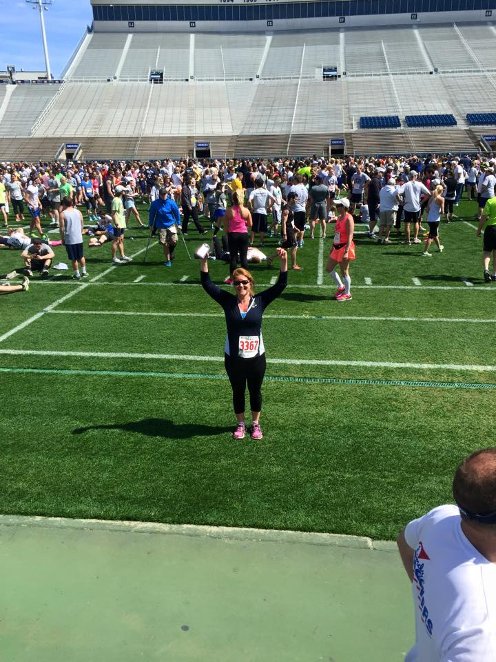 The runners ended the 5k by finishing in Beaver Stadium