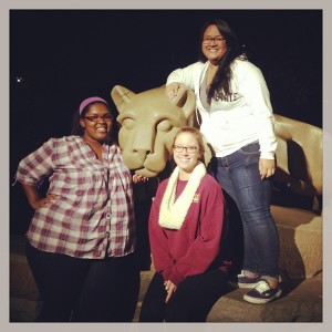 Our beautiful Lion Shrine with my friends Cassidy and Leakana.