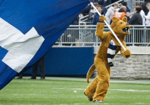 The Nittany Lion during last year's Blue-White game. (Photo credit: Patrick Mansell)