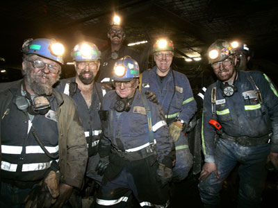 The 21st century miner. Still not  a job I would want to do everyday.