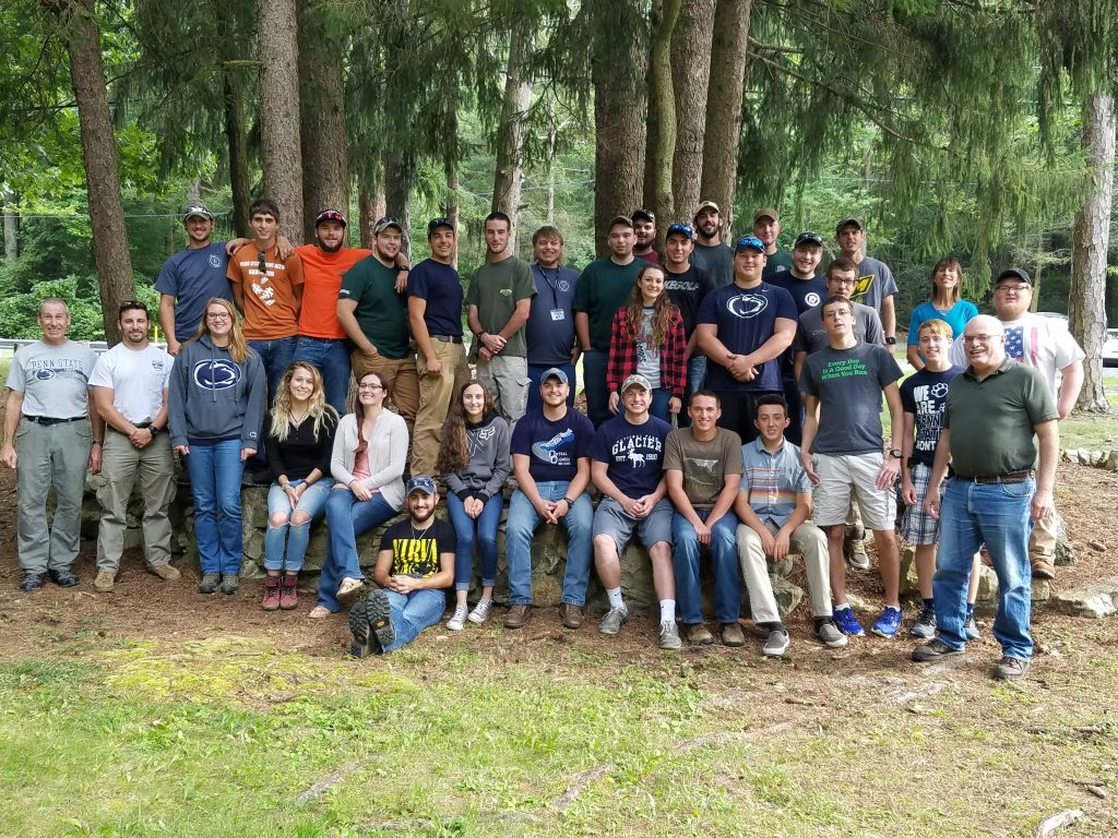 Forestry students group picture