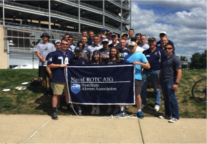 Midshipmen enjoy the hospitality and great tailgate of the Alumni Interest Group and are very thankful for all they do.