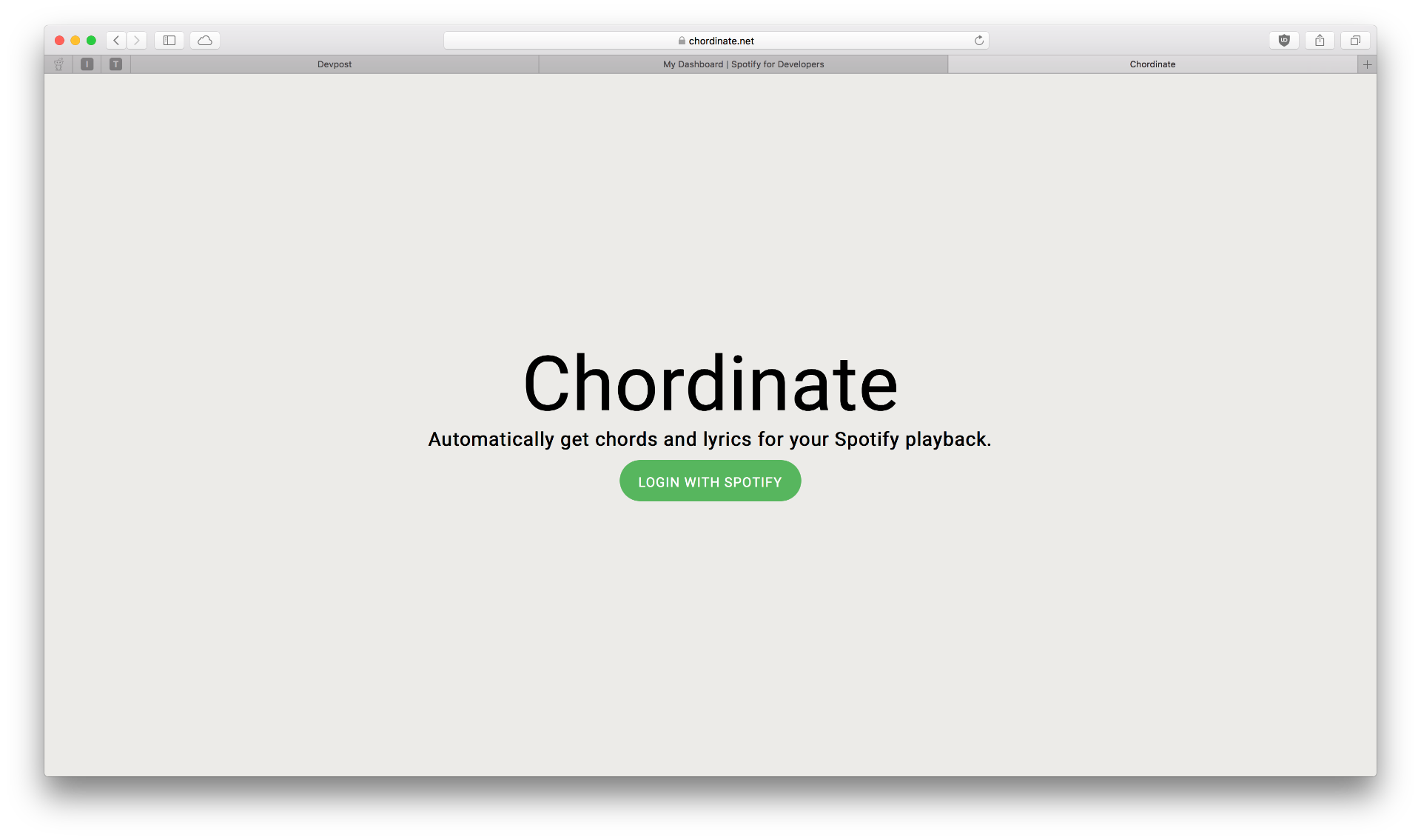 Chordinate: Get Guitar Chords for your Spotify Music