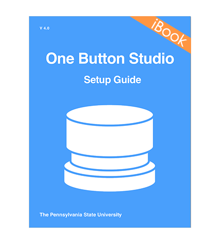 Book cover image denoting the download for the OBS setup guide in ibooks format