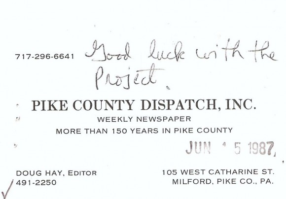 G Pic Pike Co Dispatch card 4