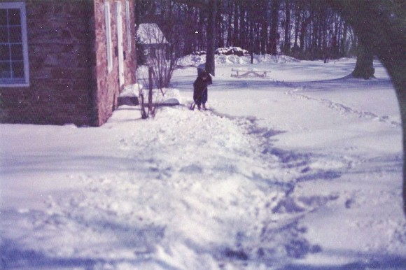 H Pic 1986 Other Feb 13 1986 Sue shoveled path Tuscarora Acad