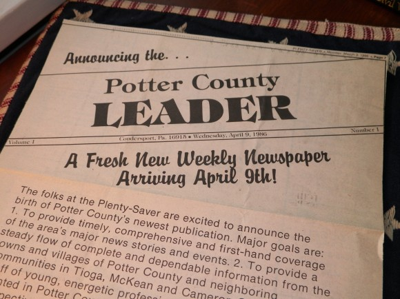 S Pic Potter County Leader article