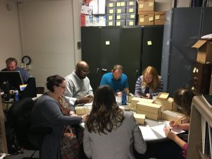 Students in AMST 540 Ethnography and Society learn about record processing in folklore archives