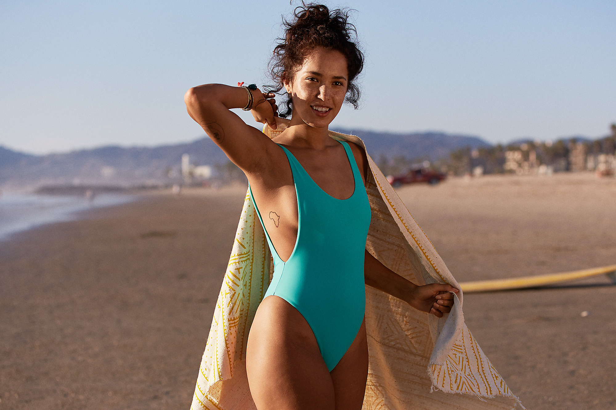760ad71a55f44 I am in love with this one piece swimsuit! Scoop neck suits have definitely  been on the rise lately, and this one from Aerie is simple and flattering.