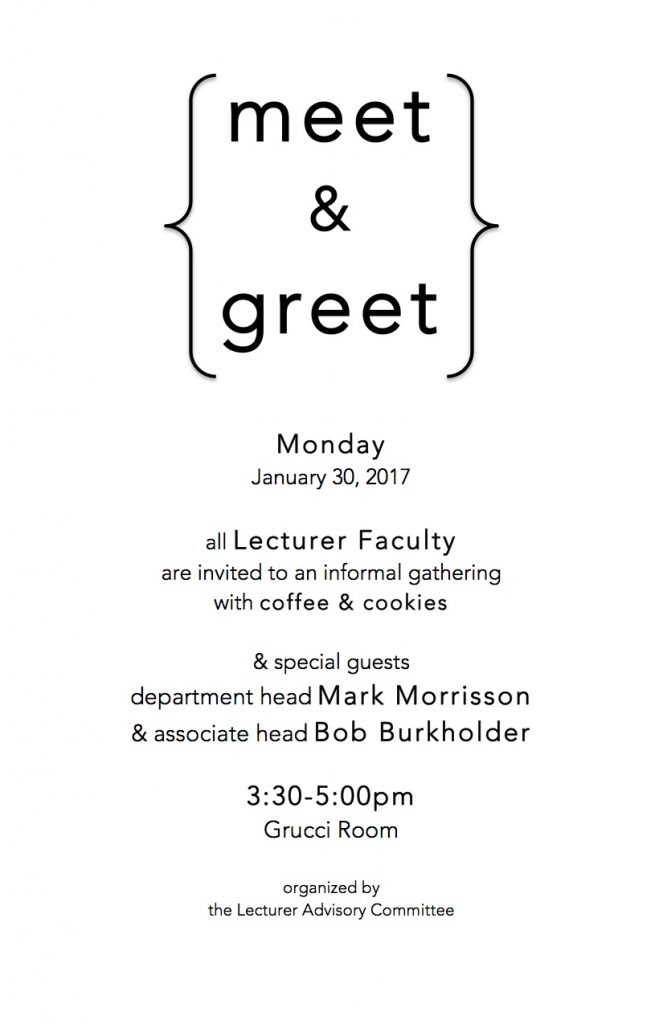 Meet and greet today all lecturer faculty invited share this m4hsunfo
