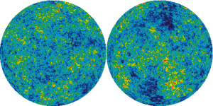 Image of the entire sky by the NASA WMAP satellite showing variations in the Cosmic Microwave Background