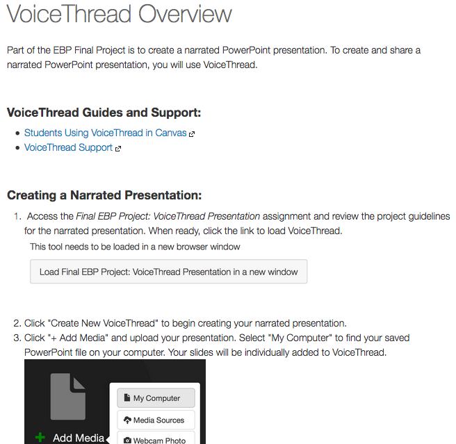 Exploring the VoiceThread integration | Canvas