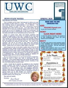 Jpg of page 1 of newsletter