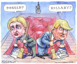 hillary-vs-trump-cartoon-exhibit