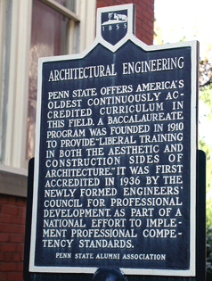 Architectural Engineering historical marker