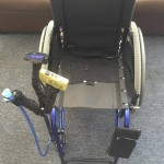 Three-part wheelchair attachment kit
