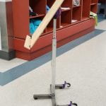 Adjustable Accessible Easel (AAE) in the hallways of CLASS