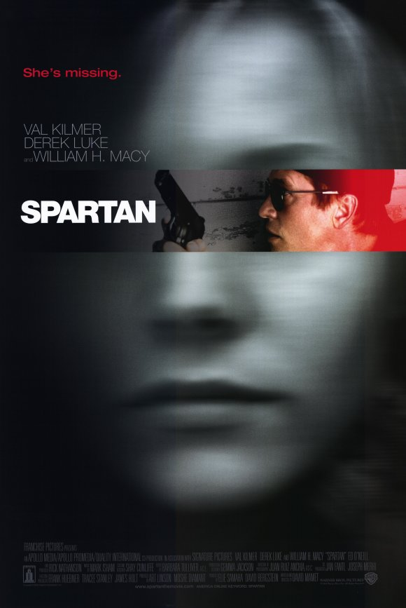 Movie poster, David Mamet's Spartan, 2004: from http://www.moviepostershop.com/spartan-movie-poster-2004