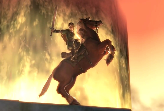 Then he rides into the sunset while Aragorn starts applying his Neosporin Gatorade