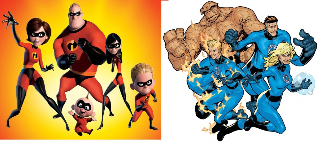 incredibles vs fantastic 4