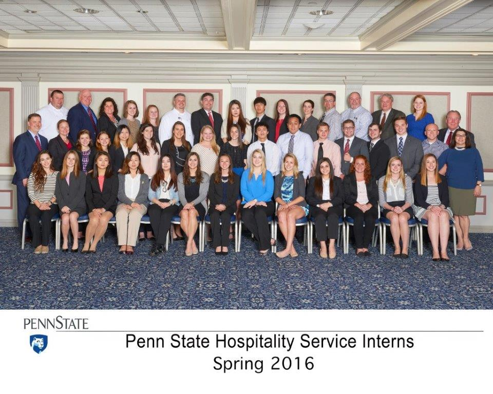Spring 2016 Penn State Hospitality Services Interns