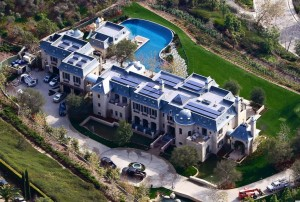 This is Tom Brady's Solar Mansion. Mine will be better (just kidding).