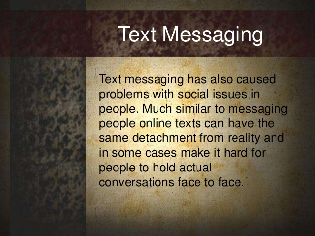 Why texting is bad for communication