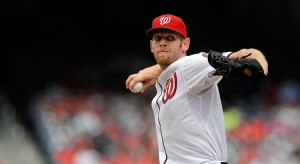 WASHINGTON, DC - APRIL 24: Starting pitcher Stephen Strasburg #37 of the Washington Nationals throws a pitch during a game against the St. Louis Cardinals at Nationals Park on April 24, 2013 in Washington, DC. (Photo by Patrick McDermott/Getty Images)