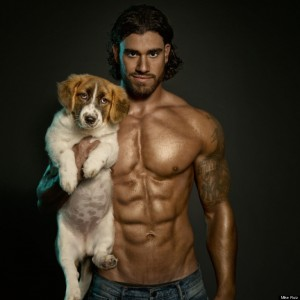 Hot Guy with Dog