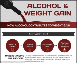 Alcohol Weight Gain Graphic
