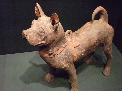 Ancient Dog Statue