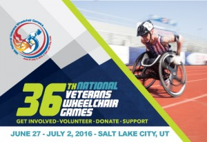 Advertisement for the National Veterans Wheelchair Games that I attended and met many paralyzed veterans.