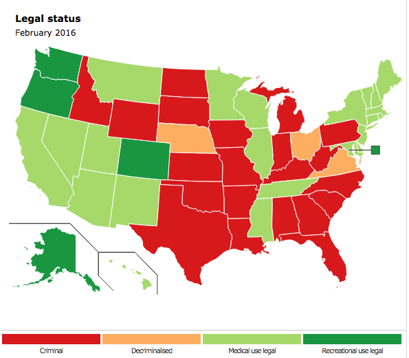 Medical Marijuana States Map 2016.A Joint A Day Keeps The Doctor Away Siowfa16 Science In Our