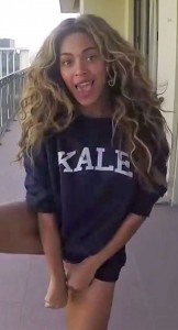 Beyonce rocking a KALE sweater, from here