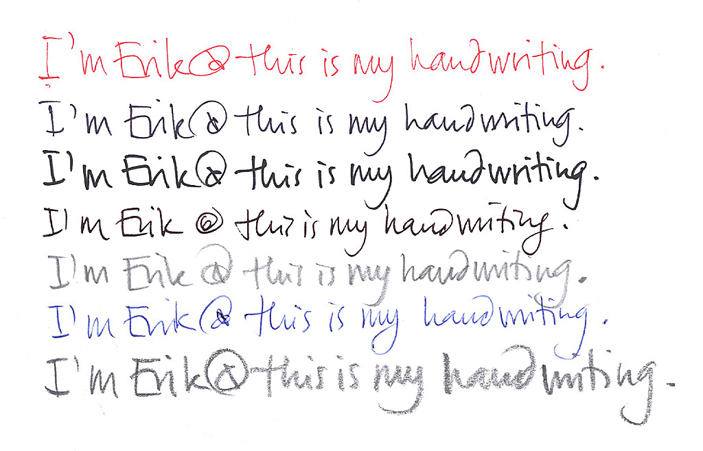 Mens handwriting