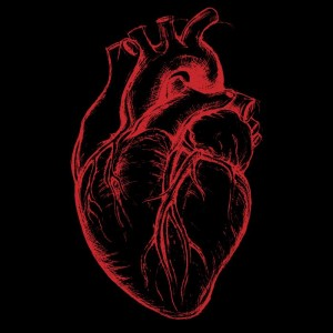illustration-of-a-heart-in-black-and-red