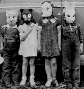 vintagehalloween-animal-masks