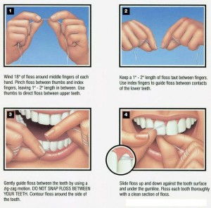 How to floss properly.