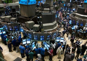 Traders work on the floor of the New York Stock Exchange on Monday, Sept. 15, 2008 in New York. A stunning reshaping of the Wall Street landscape sent stocks down sharply Monday, but the pullback appeared relatively orderly _ perhaps because investors were unsurprised by the demise of Lehman Brothers Holdings Inc. and relieved by a takeover of Merrill Lynch & Co. (AP Photo/Jin Lee)