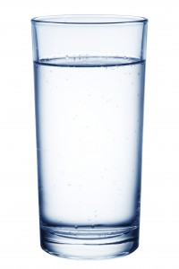 Glass of table-water.