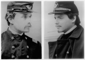 The real Col. Robert Shaw (left) and Matthew Broderick portraying him (right).