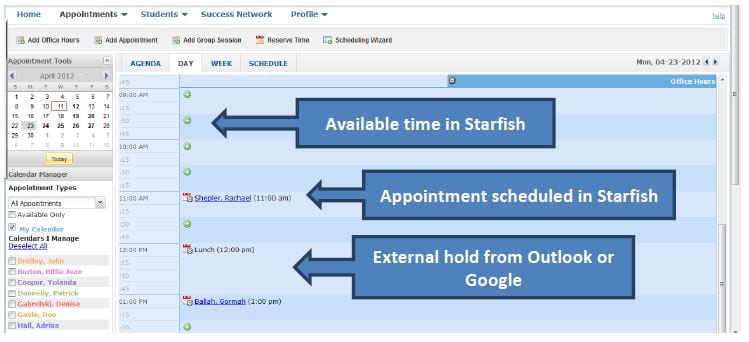 Calendars and Appointment Types